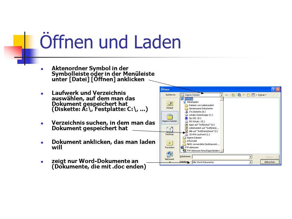 Öffnen und Laden Aktenordner Symbol in der Symbolleiste oder in der Menüleiste unter [Datei] [Öffnen] anklicken.